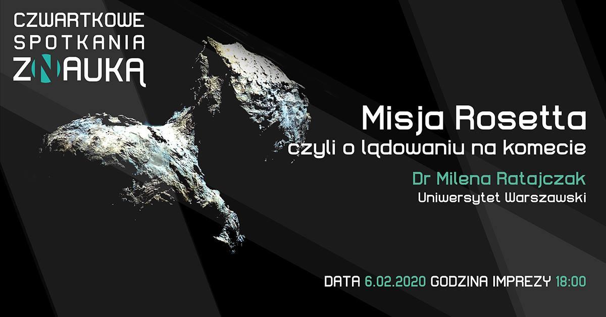 O Misji Rosetta na Czwartkowych Spotkaniach z Nauką @ Centrum Nauki Keplera - Planetarium Wenus
