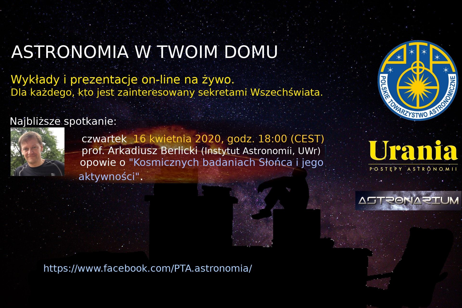 Astronomia wTwoim domu V @ https://www.facebook.com/PTA.astronomia/live