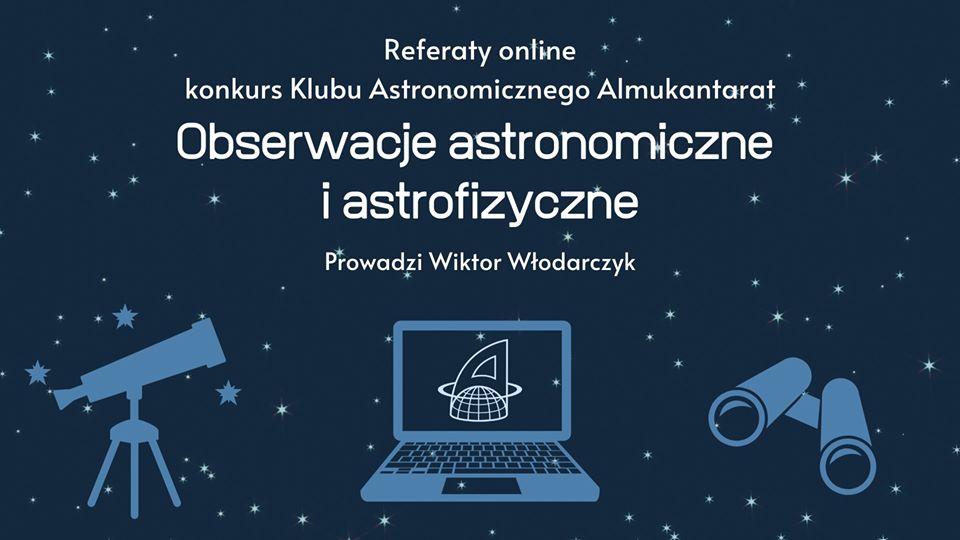 Referaty online: Obserwacje astronomiczne iastrofizyczne @ Online