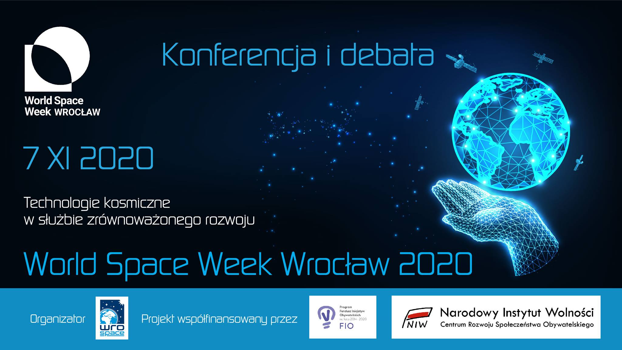 Konferencja i debata - World Space Week Wrocław 2020 @ Online