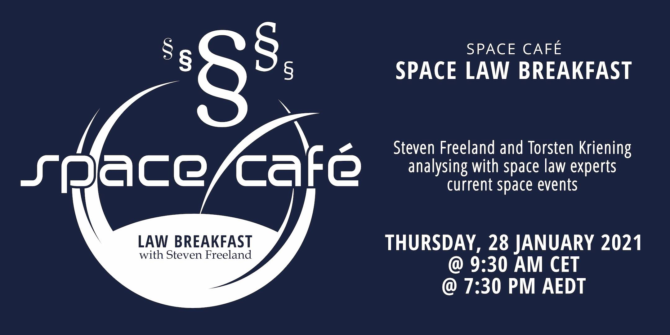 Law Breakfast with Steven Freeland - Space Café @ Online