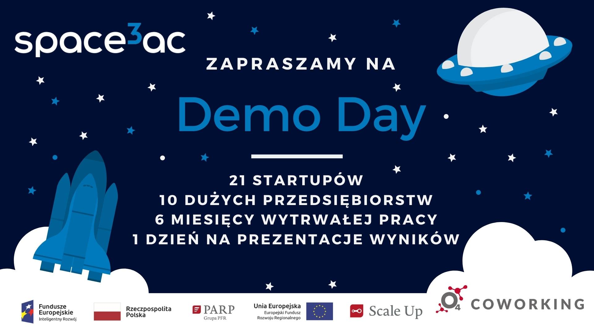 Demo Day programu Space3ac Scale Up II @ Online w Facebook Live