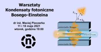 Warsztaty: Kondensaty fotoniczne Bosego-Einsteina. Z dr inż. Maciejem Pieczarką @ Online: pwr-edu.zoom.us