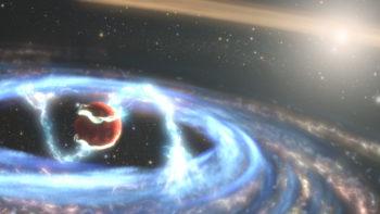 Ilustracja pola magnetycznego wokół egzoplanety