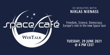 "Space Café WebTalk - ""33 minutes with Niklas Nienass"" @ Online: eventbrite.co.uk"