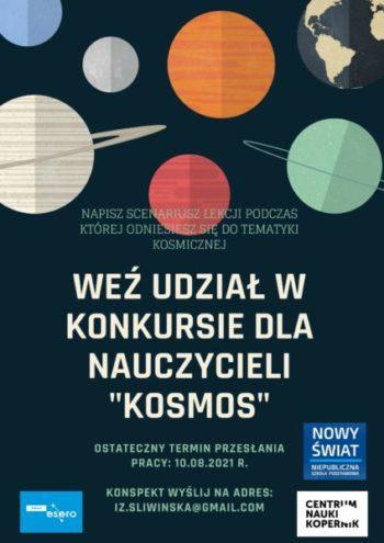 """""""Kosmos"""" – konkurs nascenariusz lekcji otematyce kosmiczne"""