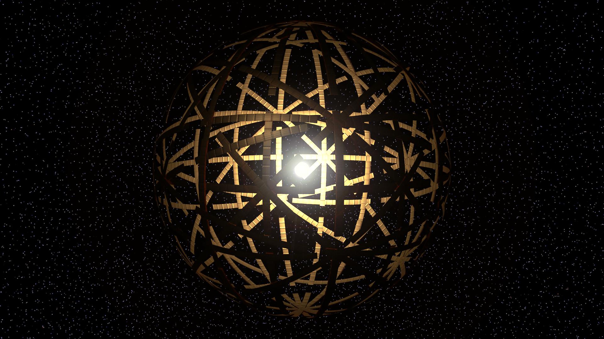 tło nagłówka wartykule oSferach Dysona okalających czarne dziury