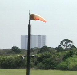 Wskaźnik siły wiatru w Centrum Kosmicznym im. Kennedyego