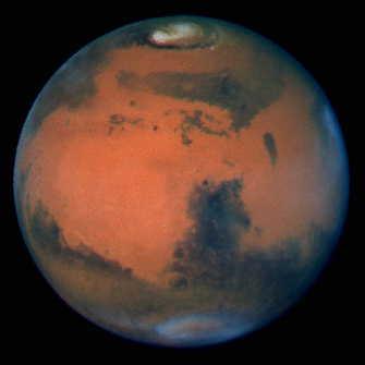 Mars widziany przez Hubble'a