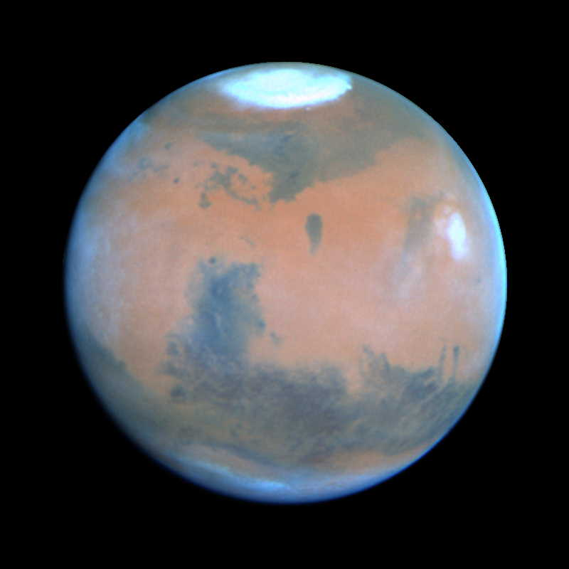 Mars widziany przez Kosmiczny Teleskop Hubble'a