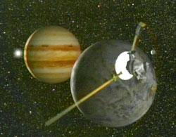Galileo przelatujący koło Ganimedesa