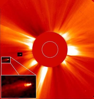 Kometa kamikaze spadająca na Słońce
