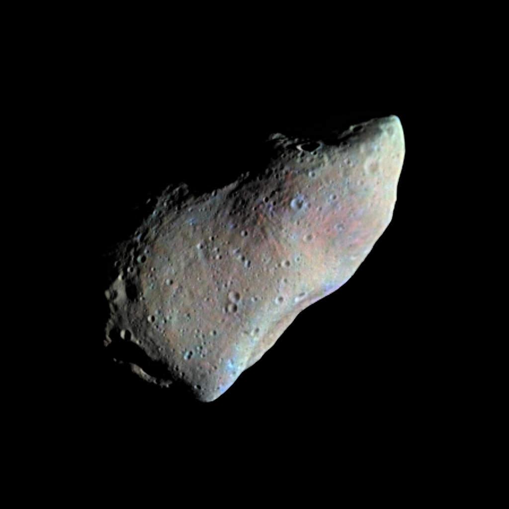 Planetoida Gaspra, fotografia wykonana przez Galileo