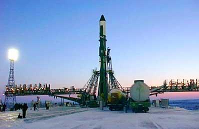 Rakieta Sojuz-U gotowa do startu