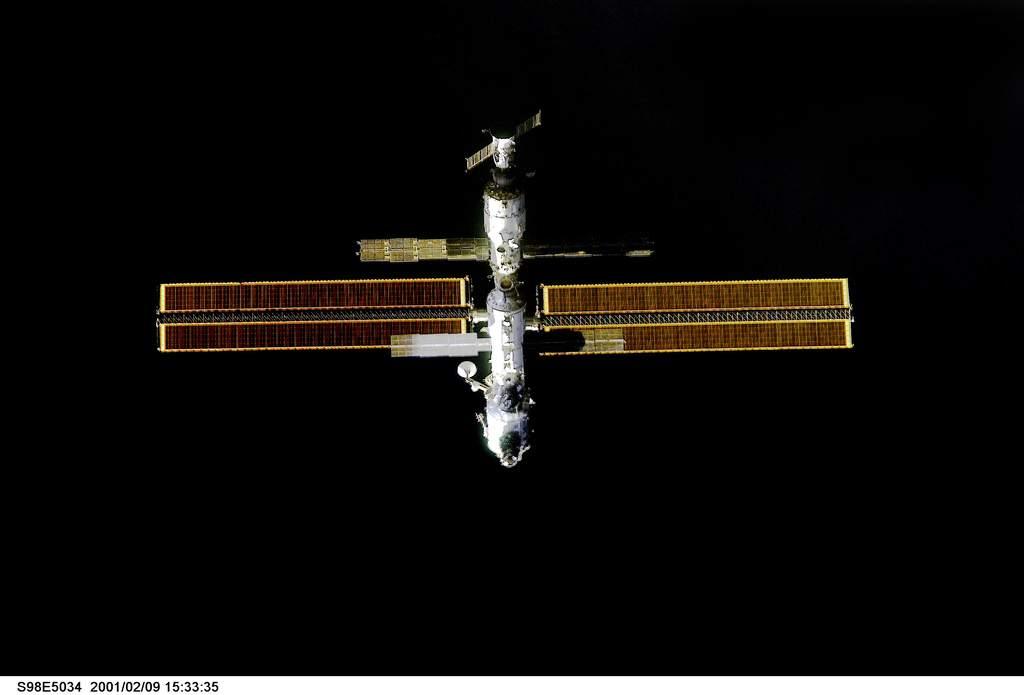 ISS z pokładu Atlantisa