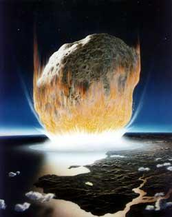 Wizja planetoidy uderzającej w Ziemię