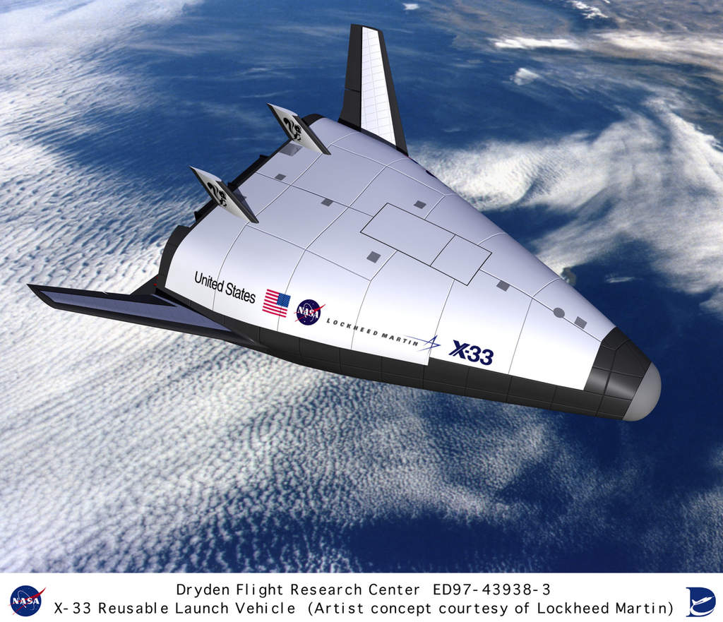 X-33 nad oceanem