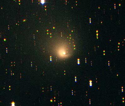 Kometa Hale-Bopp oddalająca się od Słońca