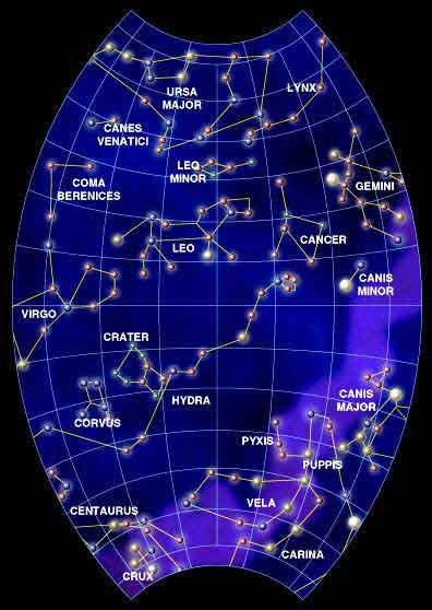 Mapka nieba wiosennego