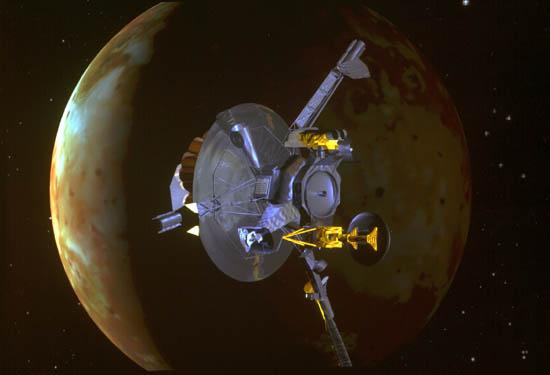 Sonda Galileo koło Io