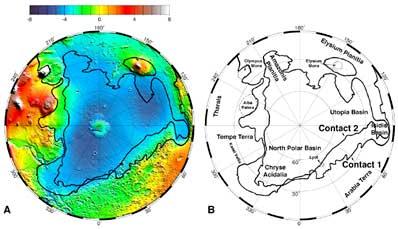 Północna półkula Marsa