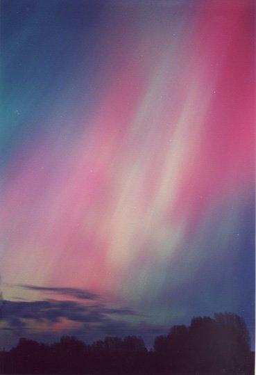 Zorza polarna widziana w Danii