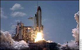 Start promu kosmicznego Endeavour