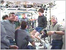 Spotkanie załogi ISS i STS-100