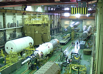 Montaż rakiety Sojuz
