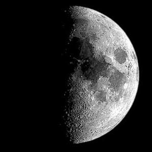 Księżyc w pierwszej kwadrze