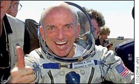 Dennis Tito po powrocie z Kosmosu