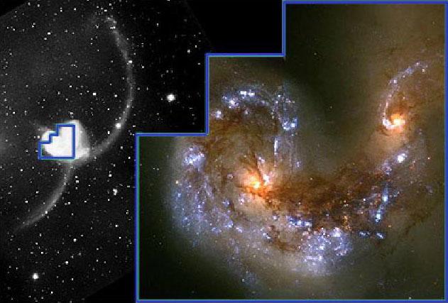 Kolidujące galaktyki