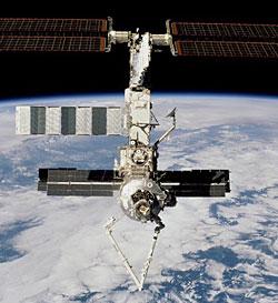 Międzynarodowa Stacja Kosmiczna i ramię wysięgnika