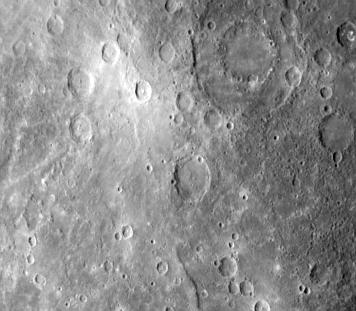 Kratery na powierzchni Merkurego