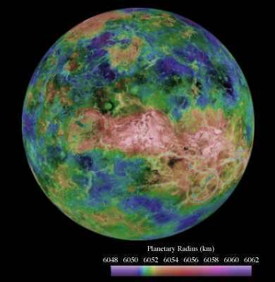 Mapa powierzchni Wenus