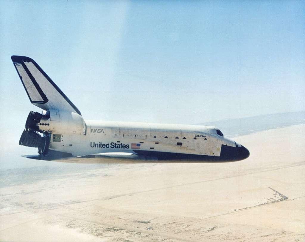 Columbia wraca z pierwszego lotu