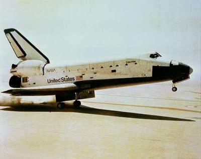 Pierwsze lądowanie promu Columbia