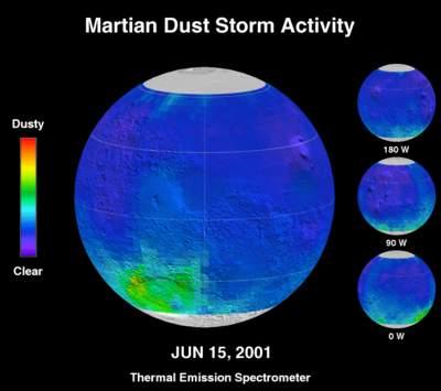 Burza pyłowa naMarsie