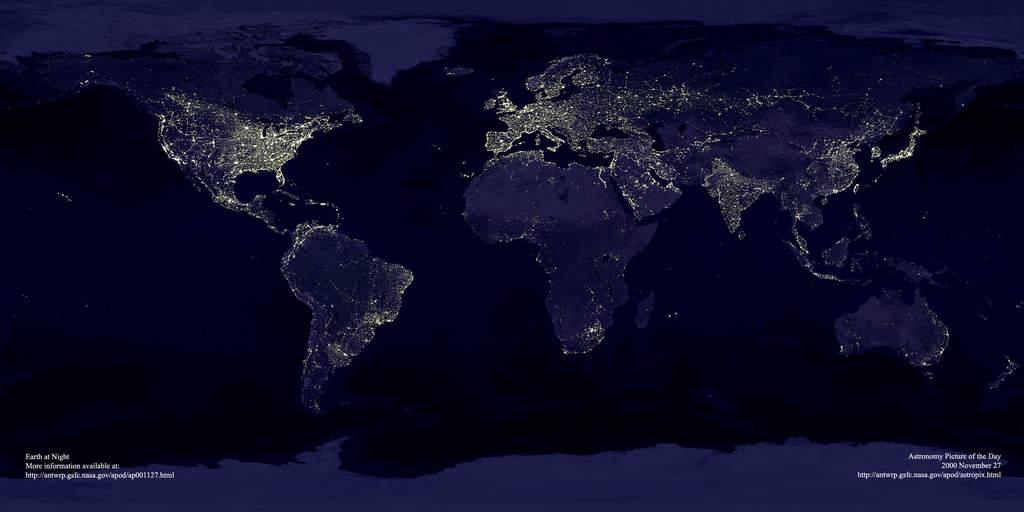 Europa nocą z orbity
