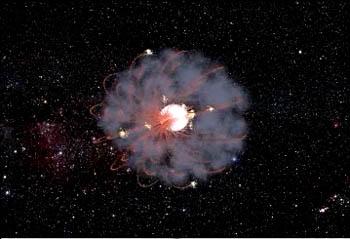 Pierścień gazowy wokół gwiazdy