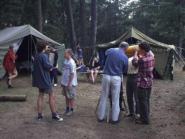 Obóz astronomiczny w Załęczu w roku 2001 (I)