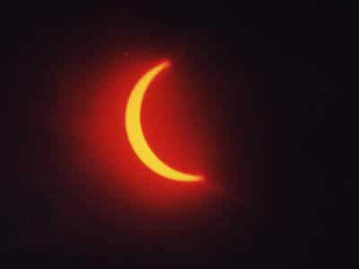 Częściowa część całkowitego zaćmienia Słońca