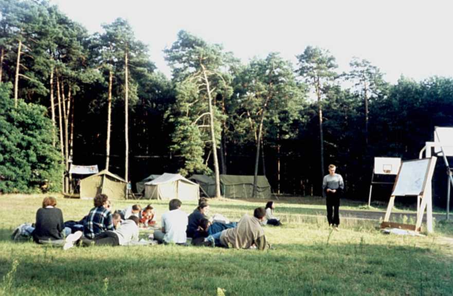 Obóz astronomiczny w Załęczu w roku 2001 (IV)