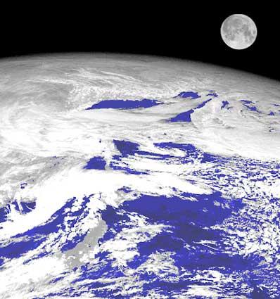 Księżyc widziany z orbity