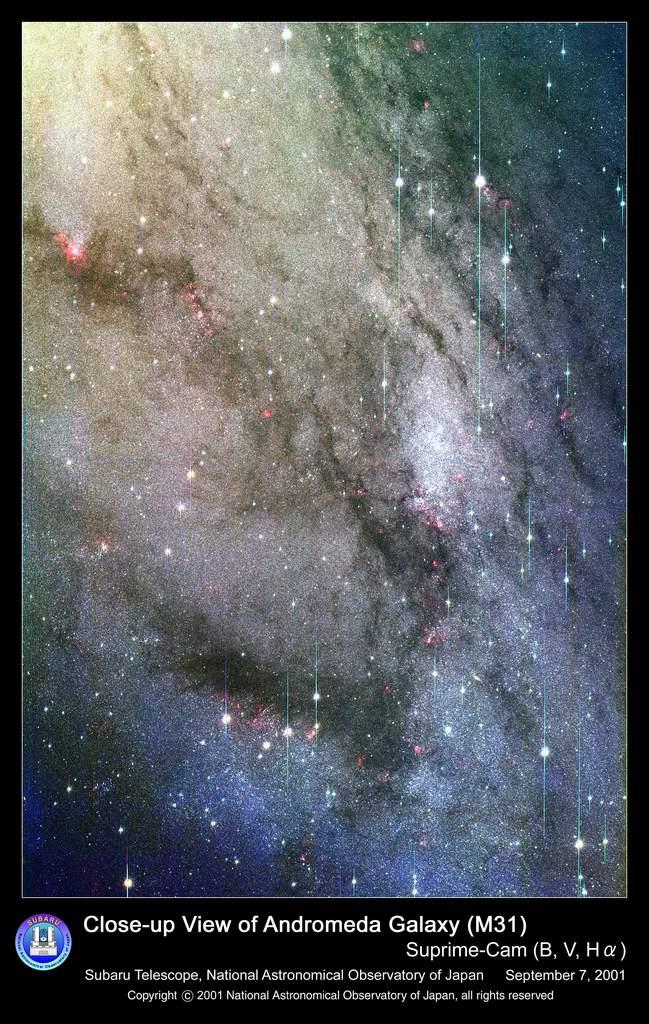Południowo-wschodni region galaktyki Andromedy