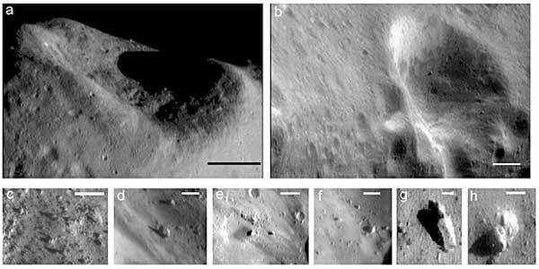 Zdjęcia powierzchni Erosa
