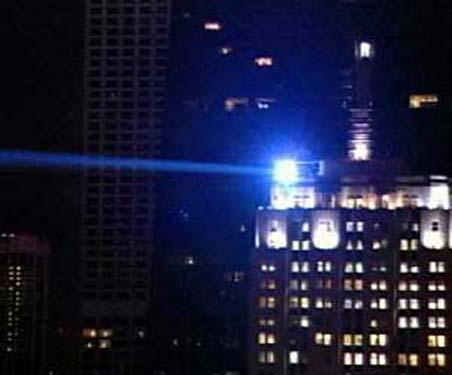 Latarnia na wieżowcu Palmolive w Chicago