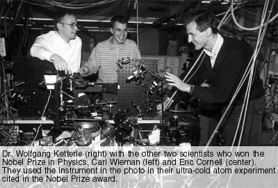 Laureaci Nagrody Nobla z fizyki w roku 2001