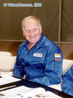 Wiktor Afanasjew podczas konferencji