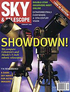 Okładka magazynu Sky & Telescope z lutego 2000